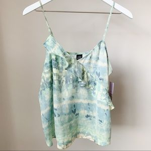 Wild Fable Blue Green Ruffled Tank